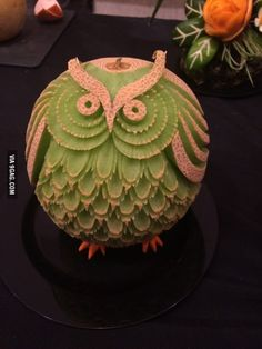 A friend created this desert out of melon