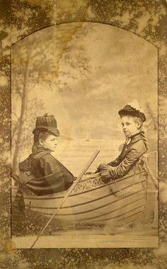 There's something so charming about this indoor boat trip at a Victorian portrait studio.