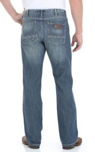 Wrangler® Retro™ Men's Premium Patch Double Your Money Wash Slim Fit Jeans- 38in Inseam | Cavender's