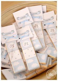 Mini chocolates para Bautismo #souvenirs #bautismo #chocolates