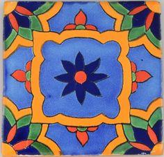 Mexican-Tile-Folk-Art-Handmade-Talavera-Backsplash-Handpainted-Mosaic-C350