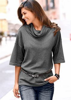 Super cute!  Dark Grey (DG) Cowl Neck Top $22  Sometimes casual and relaxed is the sexiest look around!