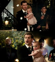 "The Originals – TV Série - Niklaus ""Klaus"" Mikaelson - Joseph Morgan - rei - King - lobo - Wolf - baby Hope Mikaelson - bebê - amor - love - daughter - filha - father - pai - dad - papai - dress - vestido - lace - renda - cor de rosa - rose - pink - pantyhose - meia calça - white - branca - moda - style - look - inspiration - inspiração - fashion - elegante - elegant - chic - 2x14 - I Love You, Goodbye - Eu Te Amo, Adeus"