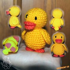 Vytvořila jsem dnes odpoledne, třeba se bude ještě někomu hodit :o)<br>Snad jsem nespáchala chybu, k... Easter Crochet, Crochet Toys, Knitted Animals, Tweety, Fun, Baby Chickens, Dolls, Ducks, Amigurumi