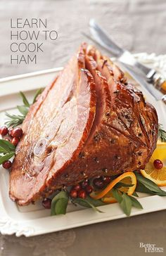 2014 Thanksgiving baked ham recipes - learn how to cook ham Thanksgiving Recipes, Holiday Recipes, Great Recipes, Dinner Recipes, Favorite Recipes, Holiday Ham, Holiday Meals, Christmas Recipes, Pork Recipes
