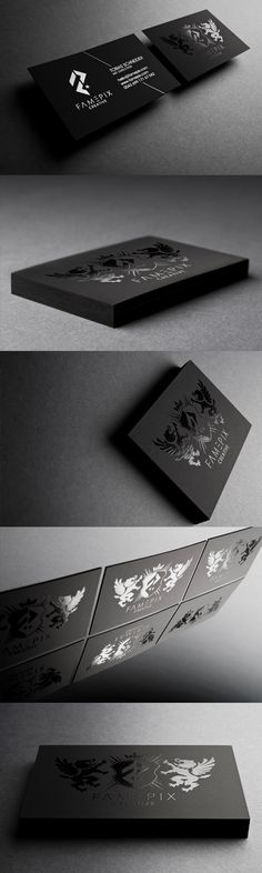 Black BusinessCards - Famepix - Business Cards - Creattica