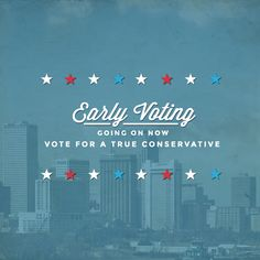 Facebook graphic reminding fans to participate in early voting and to vote for proven conservatives. Let our team bring branding, creative content and digital strategy to your campaign or cause. Learn more about how to work with Harris Media here: www.harrismediallc.com