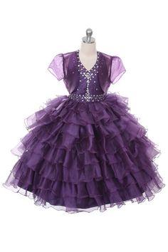 Rain Kids Jeweled Halter Pageant Dress Sheer Jacket Girls 4-14