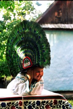 traditional folk cosume hat - Nasaud, Romania