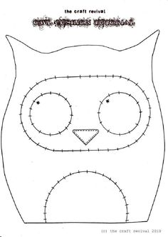 Owl Cushion Tutorial by The Craft Revival Excellent tutorial