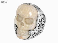 CARVED IVORY CLASSIC SKULL RING - King Baby Studio  damn that craftsmanship is dope!