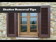 Removing Vinyl Shutters with Shur-Lok Fasteners | Window Shutter Removal and Re-installation.