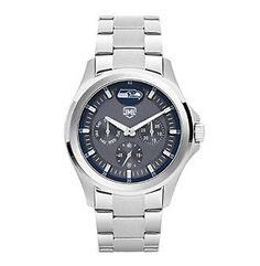 Jack Mason NFL® Seattle Seahawks Men's Silver Multi-Function Watch