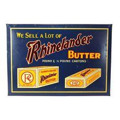 1930's Rhinelander Butter Sign