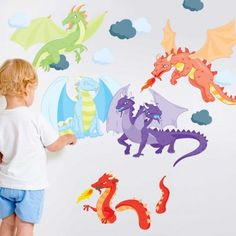 Knight And Dragon Vinyl Wall Decal Sticker. £32.95, Via Etsy. | Baby Stuff  | Pinterest | Wall Decal Sticker, Wall Decals And Dragons