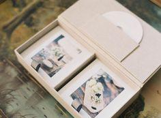 NeveAlbums.com | Double Box with DVD pocket for 5x5 Prints | Irish Linen | Proof Box | Print Box | Fine Art Weddings