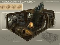 blacksmith's workshop concept - Google 검색