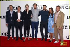 """"""" O Agente da U.N.C.L.E. """" Henry Cavill fazendo Promo em Londres! créditos em tela"""