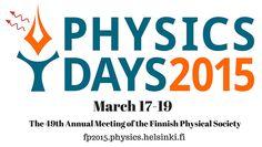 PhysicsDays2015 - http://fp2015.physics.helsinki.fi/