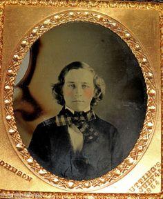 1854-Ambrotype-JOHNSON-Makers-MARK-Pioneer-PORTRAIT-Gentleman-COPPER-Man-PHOTO