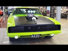 Just look at this awesome Pro Street 1968 Dodge Charger painted in the most recognizable Sublime Green Mopar color. What we know so far about this Charger? Dodge Charger 1970, Dodge Chargers, Dodge Hemi, Black Wheels, Roll Cage, Vin Diesel, Bucket Seats, American Muscle Cars, Hot Cars