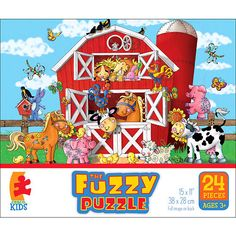 Fuzzy Puzzle 24-Piece - Barnyard