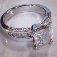 Custom princess cut ring