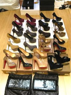 Beautiful shoes and lovely organization, what more could a girl want?