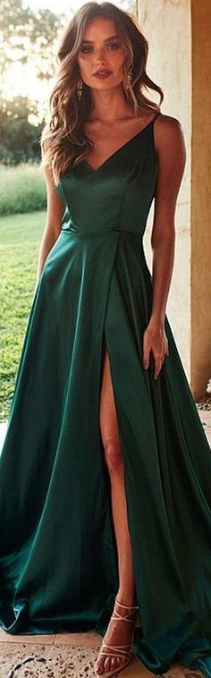 Emerald Green Side Slit Long Evening Prom Dresses, Cheap Custom Party Prom Dresses, 18580 - - Emerald Green Side Slit Long Evening Prom Dresses, Cheap Custom Party – LoverBridal Source by Pink Bodycon Dresses, Cute Prom Dresses, Prom Outfits, Cheap Dresses, Pretty Dresses, Sexy Dresses, Strapless Dress Formal, Evening Dresses, Casual Dresses