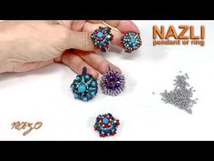 Nazlı yüzük (Coy ring) - YouTube Beading Patterns Free, Beaded Jewelry Patterns, Beading Tutorials, Bead Crafts, Jewelry Crafts, Diy And Crafts, Diy Rings, Beaded Rings, Bead Weaving