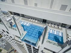 This Houston Clear-Bottomed Swimming Pool Hangs 40 Stories Above the Street - Condé Nast Traveler