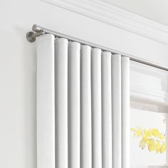 Solid Ivory Linen Ripplefold Curtain   Loom Decor