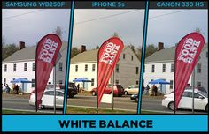 Get Smart:  A photo comparison example of the white balance when using an iphone or a point and shoot camera.