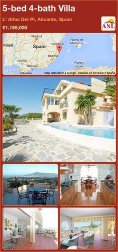 5-bed 4-bath Villa in L' Alfas Del Pi, Alicante, Spain ►€1,155,000 #PropertyForSaleInSpain