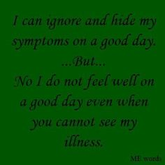 I'm sick everyday, even on those days when I'm faking it so well you can't tell. #gastroparesis