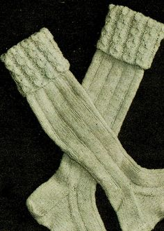 PDF Vintage Mens FISHERMAN'S Socks Knitting Pattern ARAN Retro Clothing, Practical Gifts, Boot Socks, Retro Outfits, Knitting Socks, Honeycomb, Dapper, Preppy, Gentleman