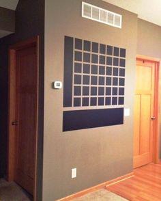 ideas organization ideas for the home calendar diy chalkboard Chalkboard Wall Calendars, Black Chalkboard Paint, Chalkboard Wall Bedroom, Small Chalkboard, Kitchen Chalkboard, Chalk Wall, Diy Calendar, Giant Calendar, Diy Wall
