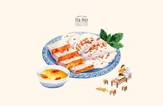 "This is a calendar that was inspired by the traditional cuisine of Hanoi. Some of the featured dishes were mentioned in the book called ""Mieng ngon Ha Noi"" by Vu Bang, a well-known Vietnamese author."