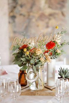 Décoration de table de mariage orange