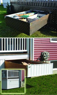 Under-deck storage drawer: 24 Practical DIY Storage Solutions for Your Garden and Yard