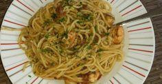 Spaghetti mit Garnelen und getrockneten Tomaten
