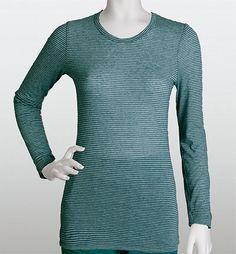 Grey's Anatomy 4331 Long Sleeve Striped Burnout Tee | Medicalscrubscollection.com Greys Anatomy Scrubs, Burnout Tee, Striped Tee, High Neck Dress, Turtle Neck, Tees, Long Sleeve, Sleeves, Sweaters