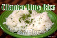 Cilantro Lime Rice   Recipes We Love