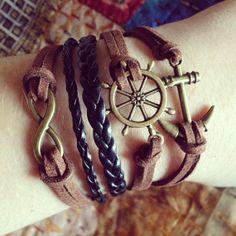 TRANQUILITY~ Multi-Layer Bracelet, Infinity Bracelet, Anchor Bracelet, Love Bracelet, Charm Bracelet