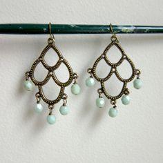 Mint Chandelier Earrings $42