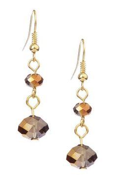 Faceted Dangling Fashion Earrings
