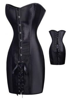 Cheap fancy corset, Buy Quality steampunk outfit directly from China corset dress Suppliers: LAUWOO Sexy Gothic Black Satin Sexy Slim Fancy Corset Dress Clubwear Steampunk outfit Overbust Bustier Halloween Tops Gothic Corset Dresses, Steampunk Corset Dress, Black Corset Dress, Gothic Outfits, Sexy Corset, Black Leather Corset, Burlesque Corset, Pink Corset, Dress Lace