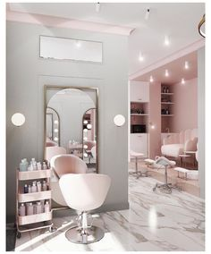 Home Beauty Salon, Beauty Salon Decor, Beauty Salon Design, Home Salon, Makeup Studio Decor, Home Hair Salons, Beauty Salons, Beauty Studio, Interior Design Gallery