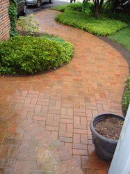 Curvy brick path