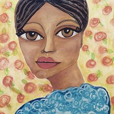 Art by Lisa Lieber acrylic portrait